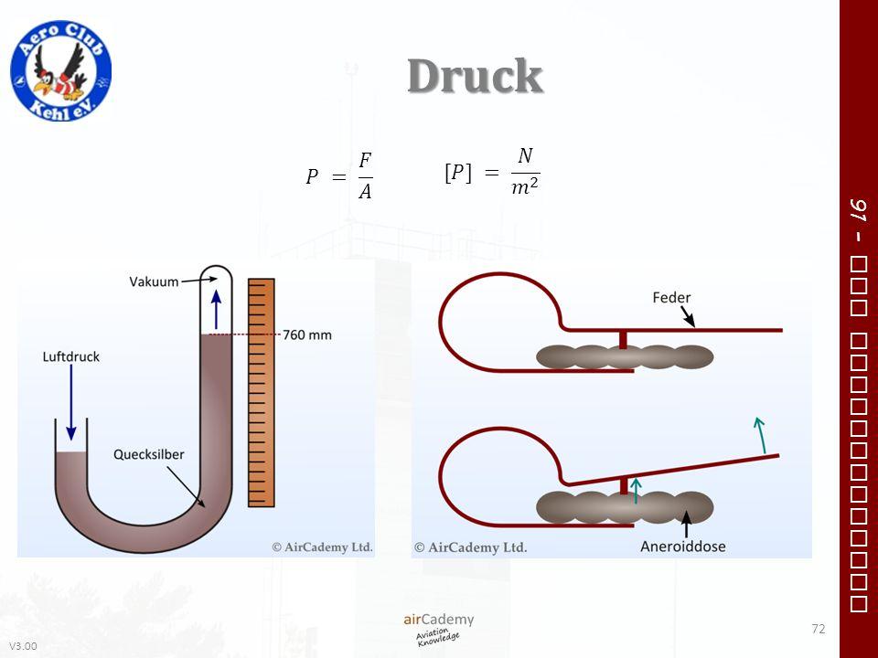 Druck 𝑃 = 𝐹 𝐴 [𝑃] = 𝑁 𝑚 2